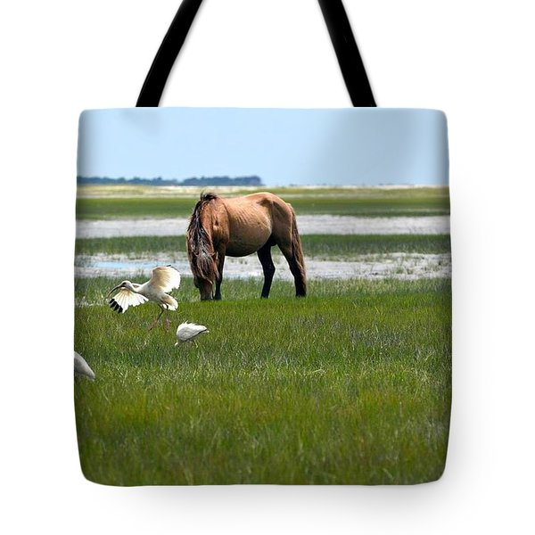 Grazing With The Ibis Tote Bag
