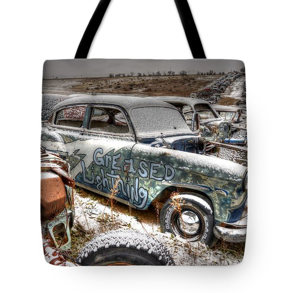 Greased Lightning Tote Bag