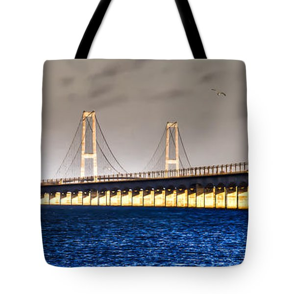 Tote Bag featuring the photograph Great Belt Bridge by Gert Lavsen