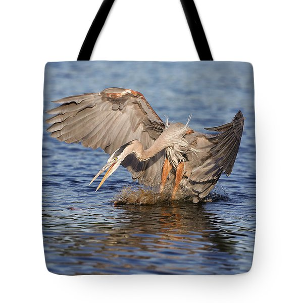 Great Blue Attack Tote Bag