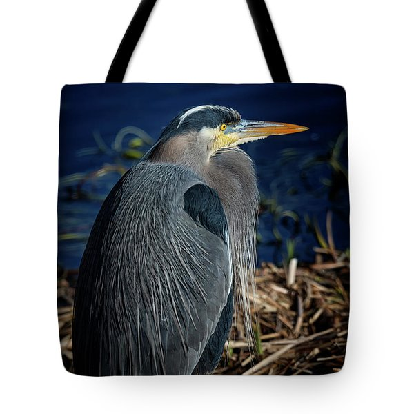 Tote Bag featuring the photograph Great Blue Heron 2 by Randy Hall