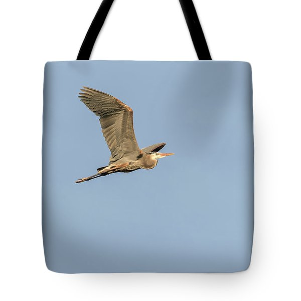Tote Bag featuring the photograph Great Blue Heron 2015-17 by Thomas Young