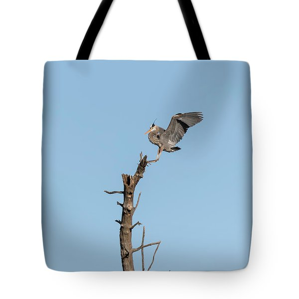 Great Blue Heron 2017-4 Tote Bag by Thomas Young