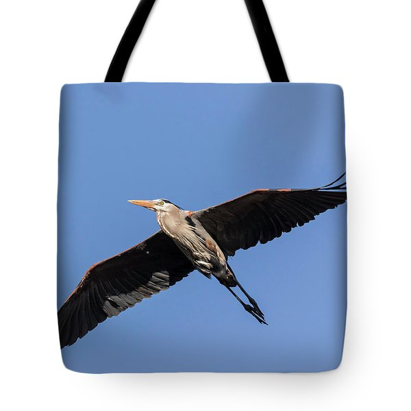 Great Blue Heron 2017-6 Tote Bag by Thomas Young