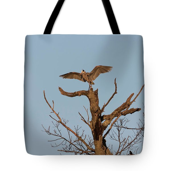 Great Blue Heron 2017-7 Tote Bag by Thomas Young