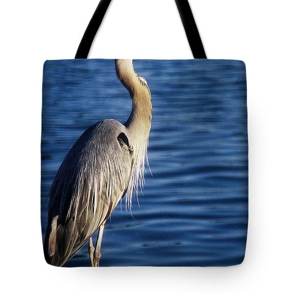 Great Blue Heron At Put-in-bay Tote Bag