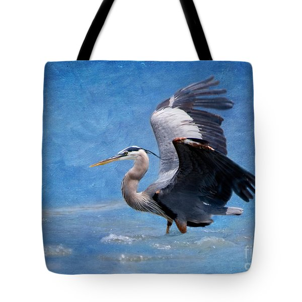 Great Blue Heron  Tote Bag by Betty LaRue