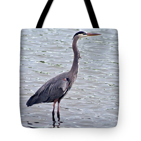 Tote Bag featuring the photograph Great Blue Heron by Bill Barber