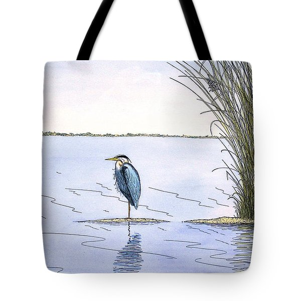 Great Blue Heron Tote Bag by Charles Harden