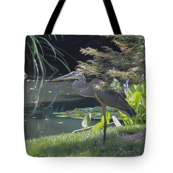 Great Blue Heron Tote Bag by Linda Geiger