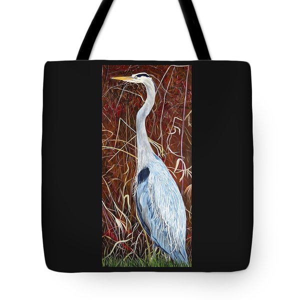 Great Blue Heron Tote Bag by Marilyn  McNish