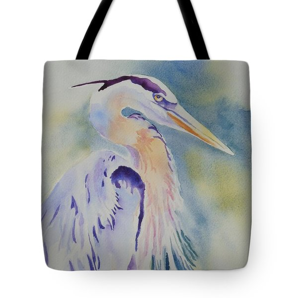 Great Blue Heron Tote Bag by Mary Haley-Rocks