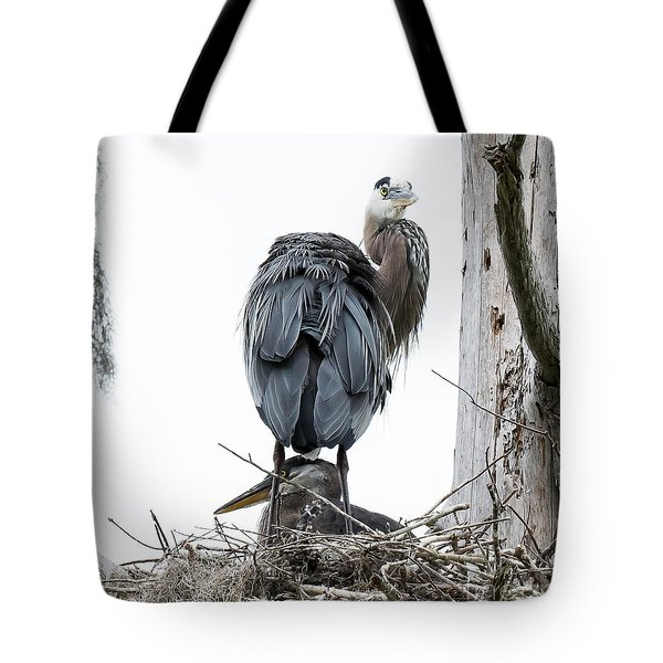 Tote Bag featuring the photograph Great Blue Heron by Michael D Miller