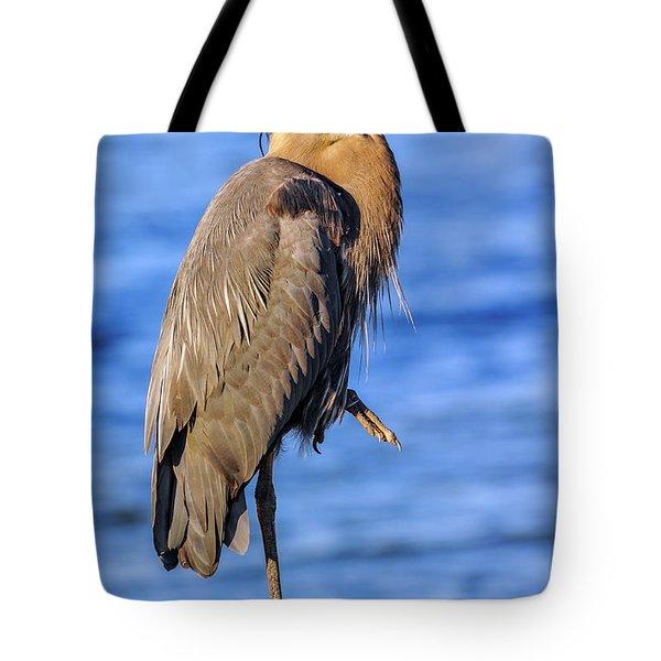 Great Blue Heron On The Chesapeake Bay Tote Bag
