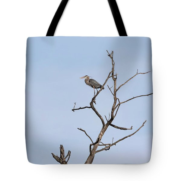 Tote Bag featuring the photograph Great Blue Heron Presentation 2017-1  by Thomas Young