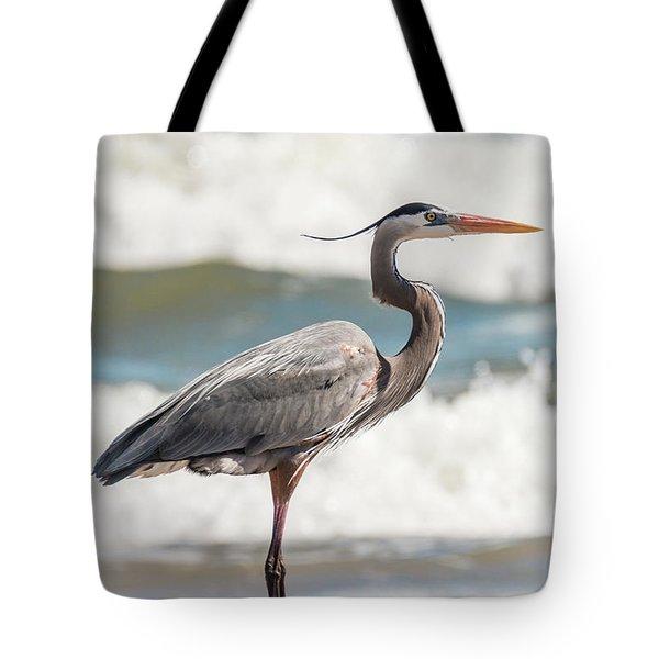 Great Blue Heron Profile Tote Bag