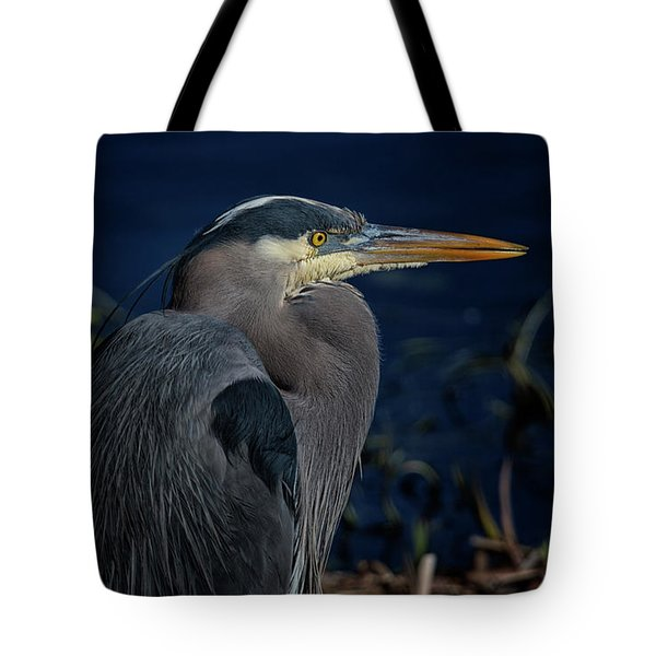 Tote Bag featuring the photograph Great Blue Heron by Randy Hall