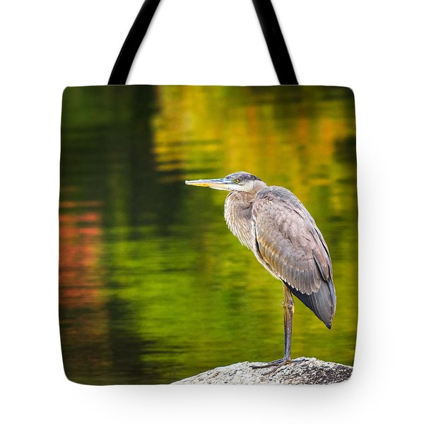 Tote Bag featuring the photograph Great Blue Heron by Robert Clifford