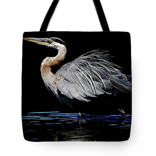 Great Blue Heron Show Off Tote Bag