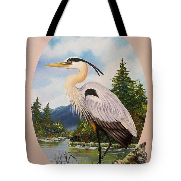 Flying Lamb Productions                 Great Blue Heron Tote Bag