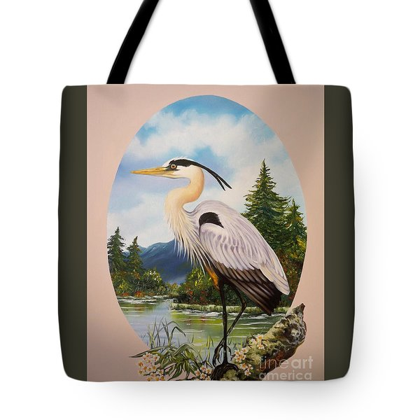 Flying Lamb Productions                 Great Blue Heron Tote Bag