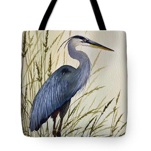 Great Blue Heron Splendor Tote Bag by James Williamson