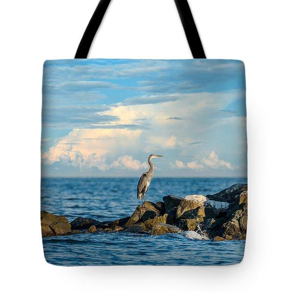 Great Blue Heron World Tote Bag