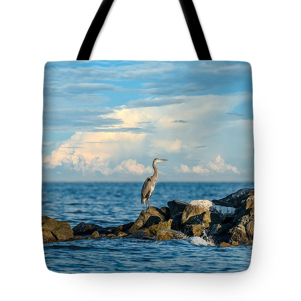 Great Blue Heron World Tote Bag