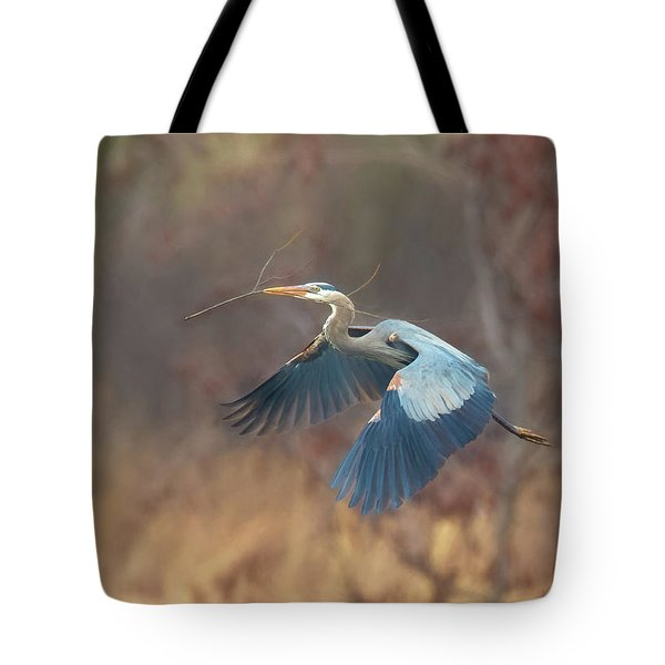 Great Blue Tote Bag by Kelly Marquardt