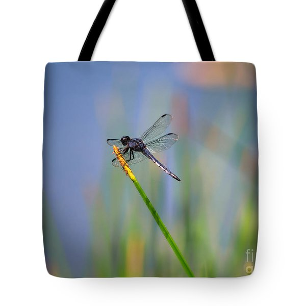Tote Bag featuring the photograph Great Blue Skimmer by Brenda Bostic