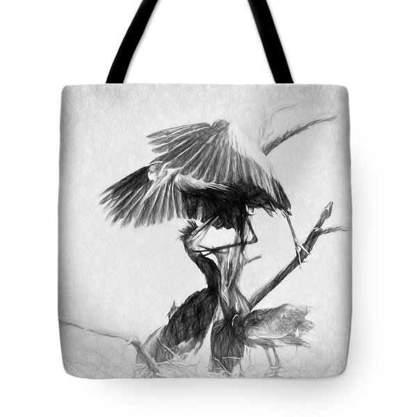 Great Blues II Sketch Tote Bag