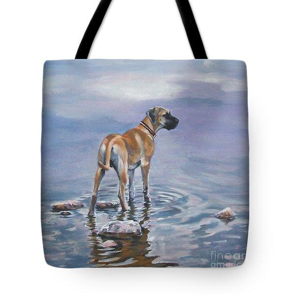 Great Dane Tote Bag by Lee Ann Shepard