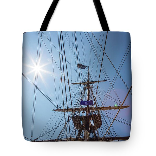 Tote Bag featuring the photograph Great Day To Sail A Tall Ship by Dale Kincaid