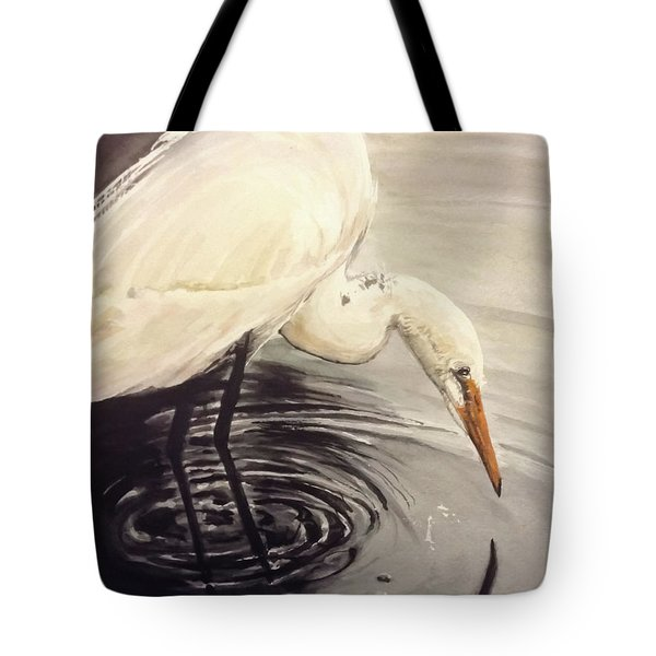 Great Egret , Mirror Tote Bag