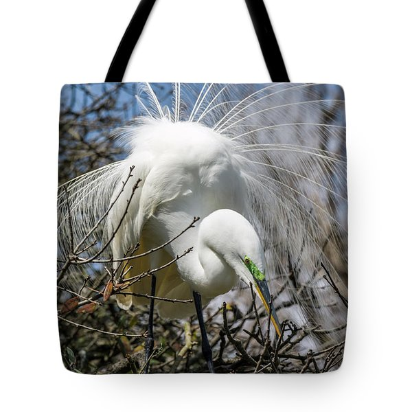 Great Egret Tote Bag by Gregg Southard