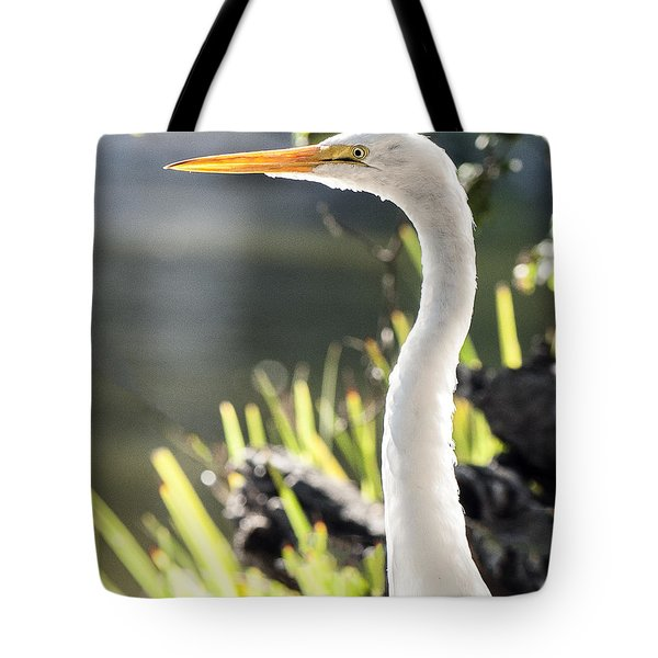 Great Egret Headshot Profile  Tote Bag