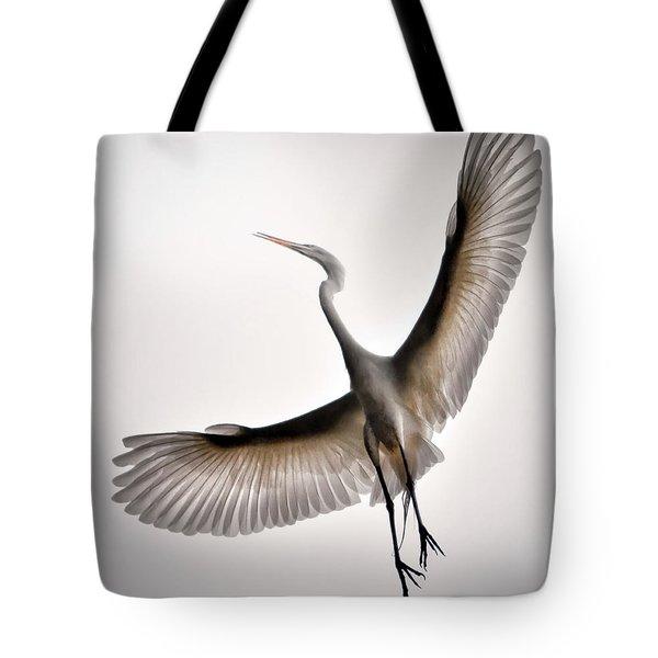 Great Egret Majesty Tote Bag