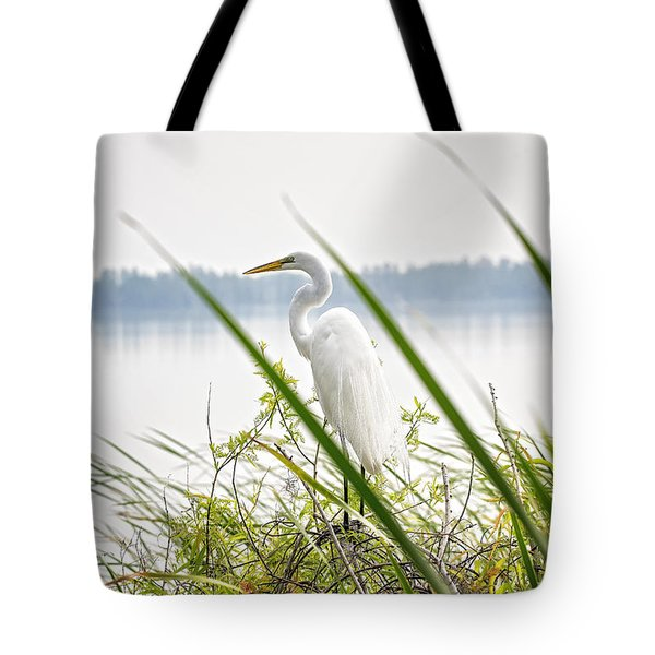 Great Egret  Tote Bag by Michael White