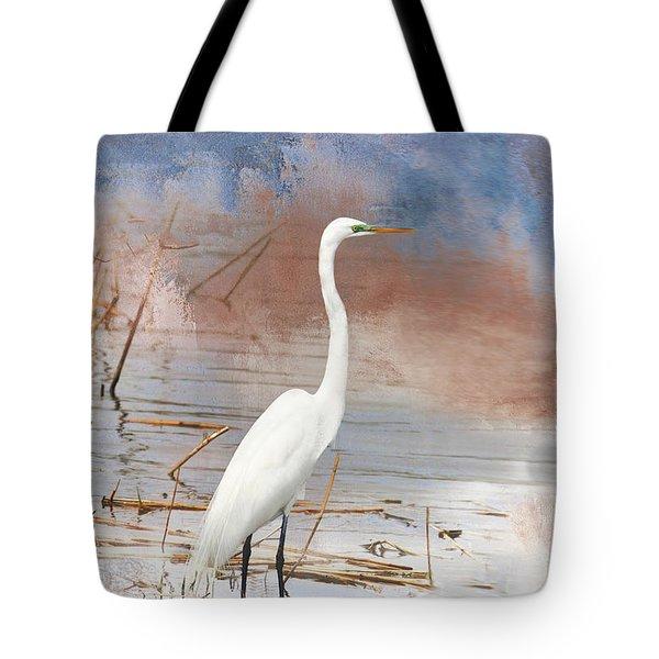 Great Egret - Nj Marshland Tote Bag