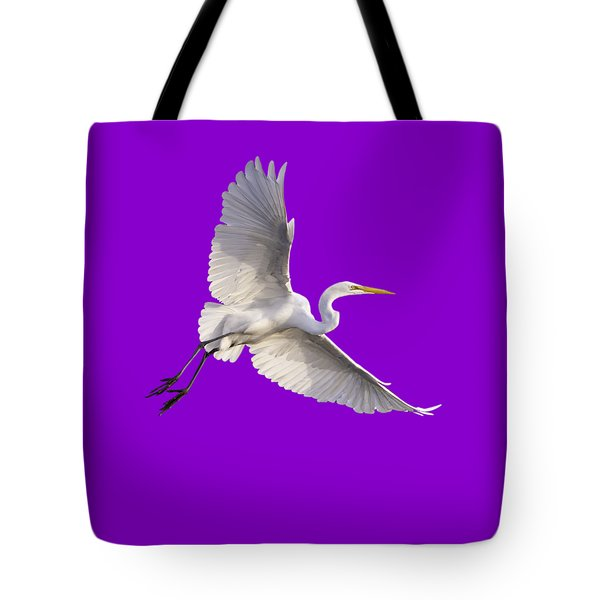 Tote Bag featuring the photograph Great Egret Png by Jeff Phillippi