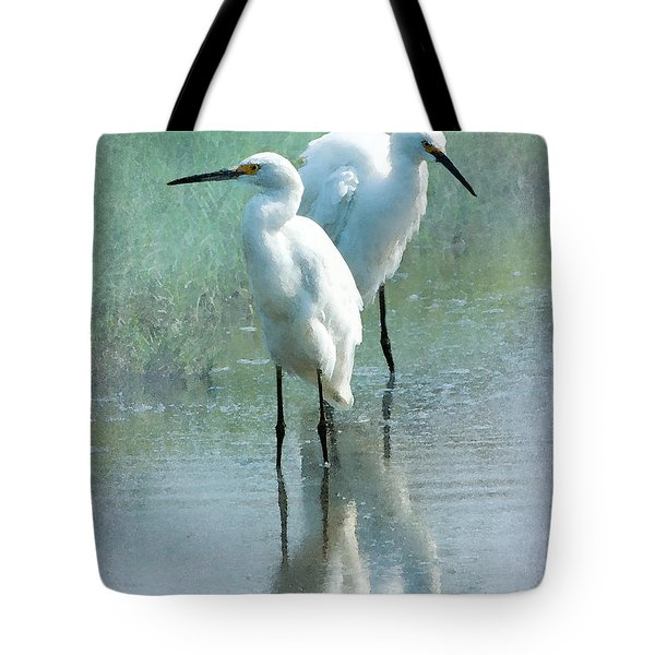 Great Egrets Tote Bag by Betty LaRue