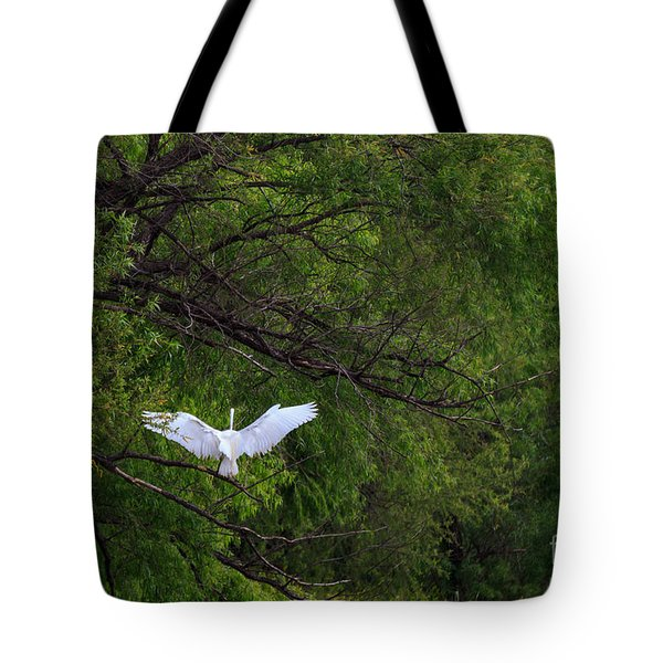 Great Egrets In The Shore Tote Bag