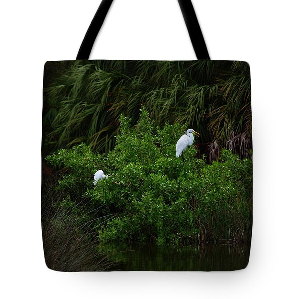 Great Egrets Tote Bag