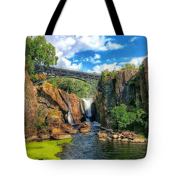 Great Falls In Paterson Tote Bag