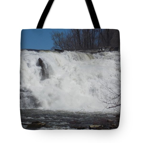 Great Falls In Canaan Tote Bag by Catherine Gagne