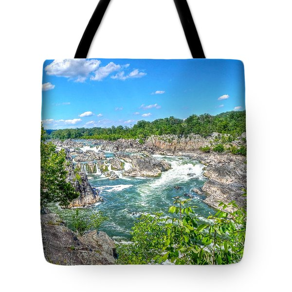 Great Falls On The Potomac Tote Bag