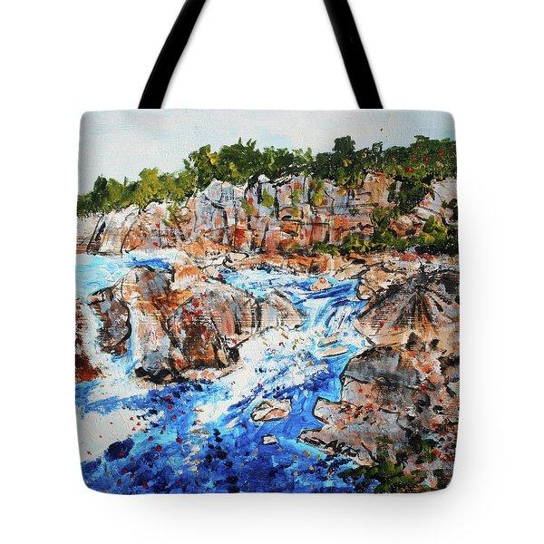Great Falls Waterfall 201745 Tote Bag by Alyse Radenovic