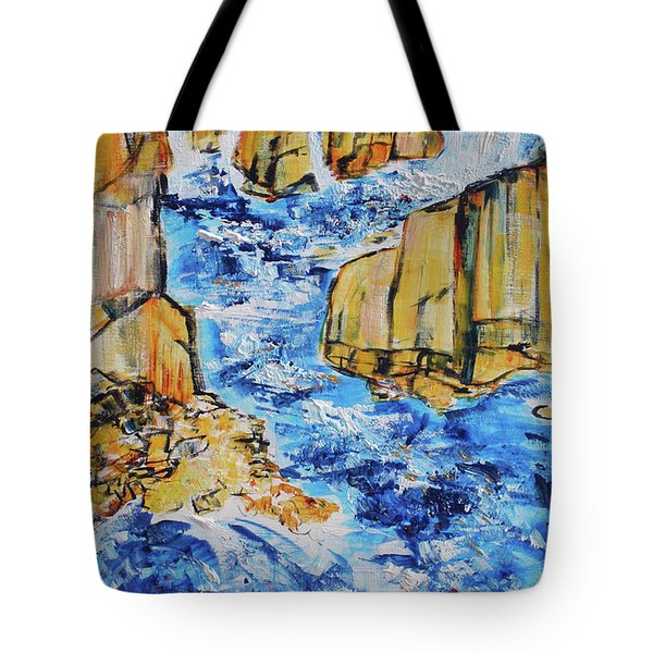 Great Falls Waterfall 201754 Tote Bag by Alyse Radenovic