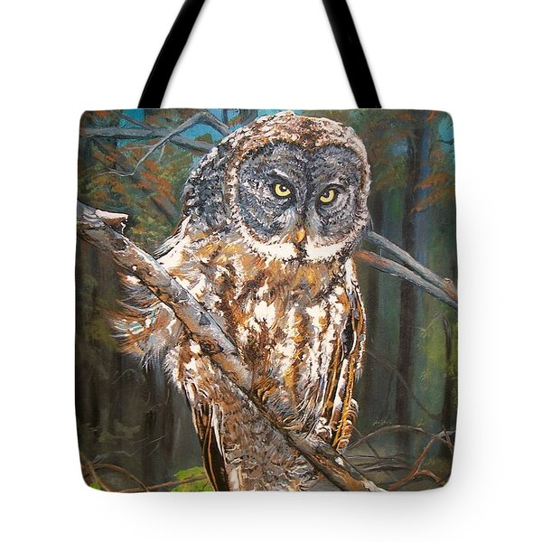 Great Grey Owl 2 Tote Bag