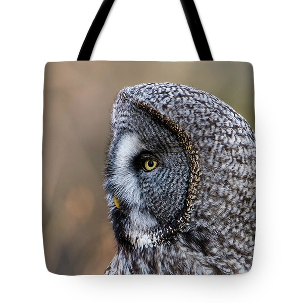 Great Grey's Profile A Closeup Tote Bag by Torbjorn Swenelius